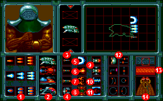 X-out: Ship & Weapon Equipment Screen